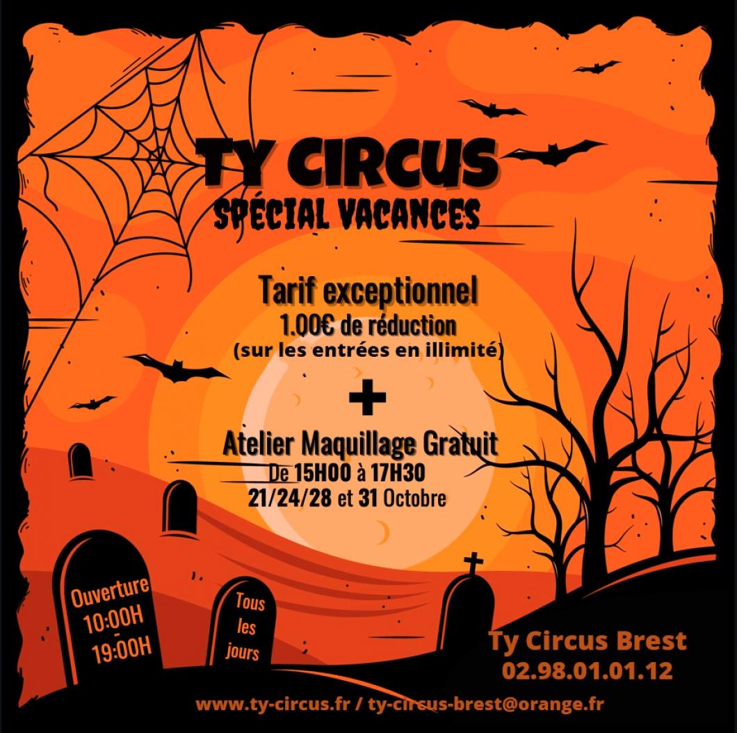 Ty Circus Brest fête HALLOWEEN